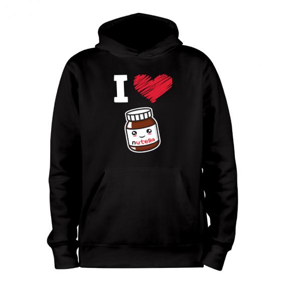 Nutella_noir_hoodies_Devant