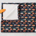 02-Doudou Camping Bleu Orange Jaune